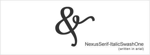 nexusserif-italics