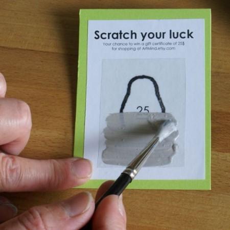 Préférence Comment fabriquer soi-même des tickets à gratter ! – Graphisme  IK04