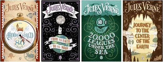 Jules Verne Couvertures De Livres Graphisme