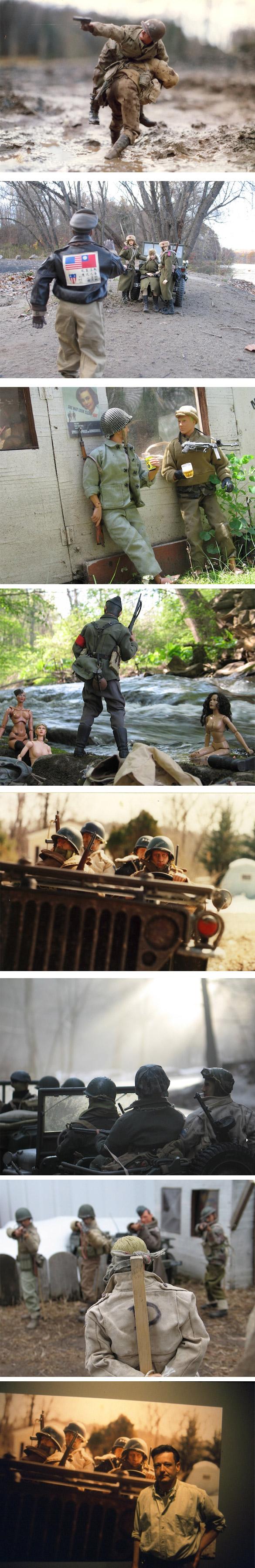 soldat Des scènes de guerre avec Ken, le mari de Barbie ; )