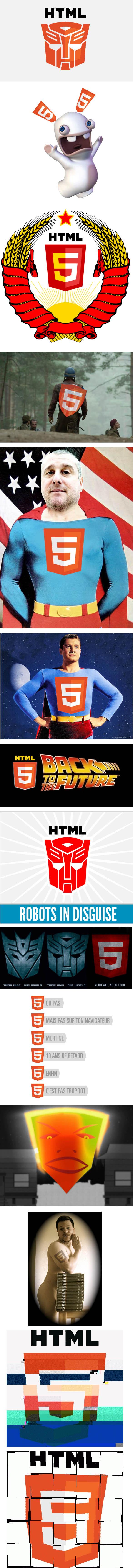 Sans titre 1 Déjà les parodies du logo pour le HTML5 : )