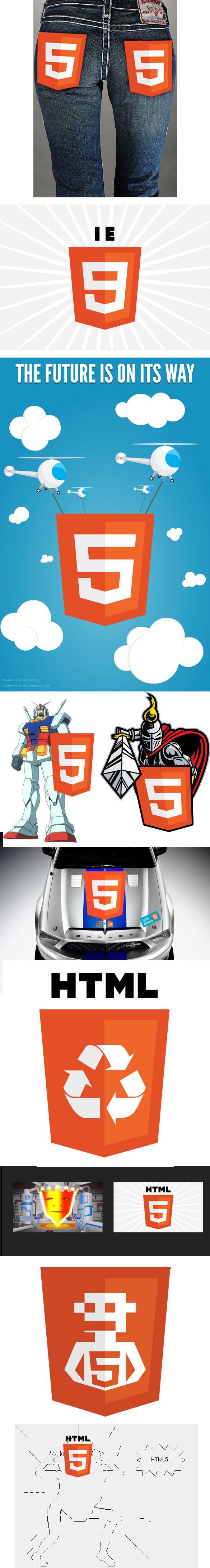 html52 Déjà les parodies du logo pour le HTML5 : )