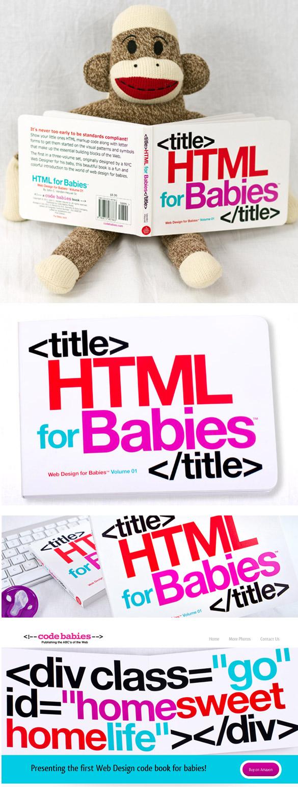 htmlbabis Le HTML pour les bébés ! Le livre pour apprendre le HTML à vos enfants...