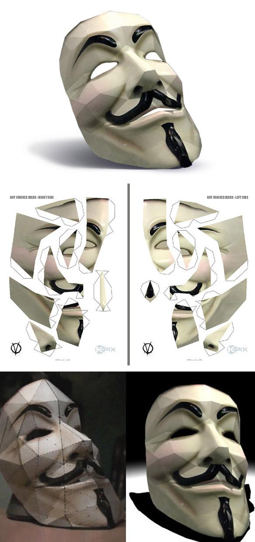 Как сделать маску анонимус 773
