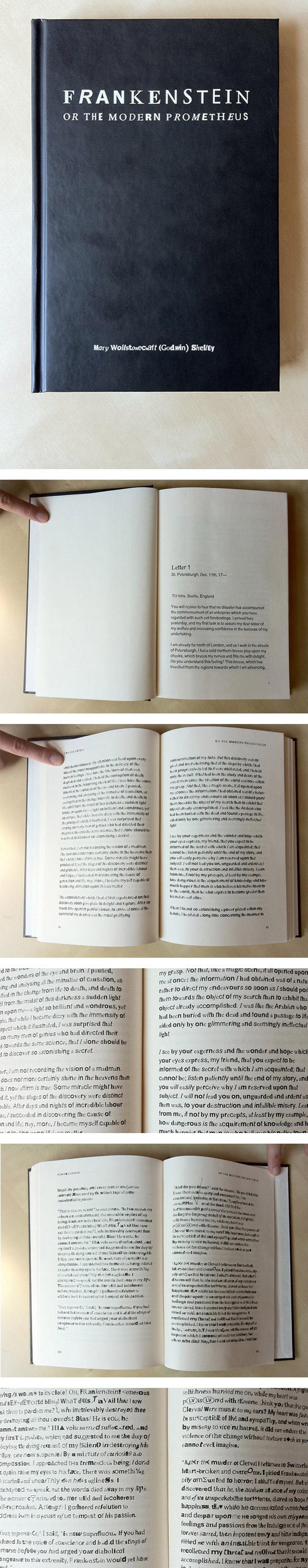 frank Que faire avec 64076 55382 polices ? Un livre sur Frankenstein bien sûr !