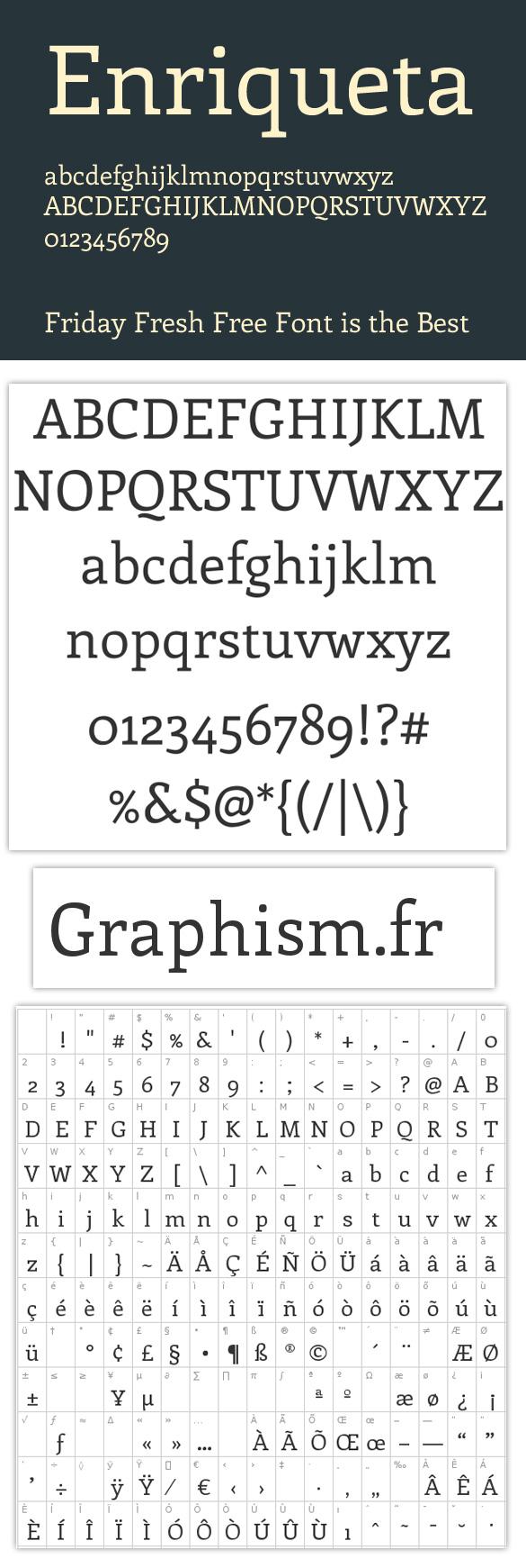 typo Lundi cest typographie avec le caractère Enriqueta!