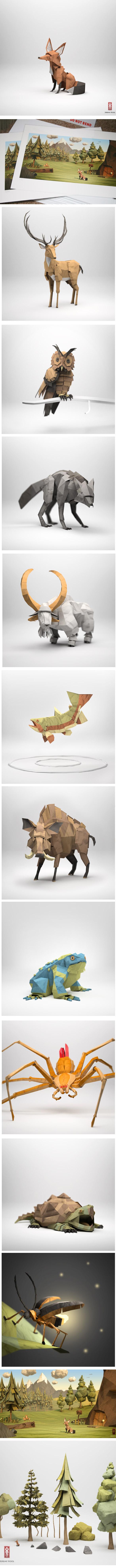 kool Les animaux de papier de Jeremy Kool !