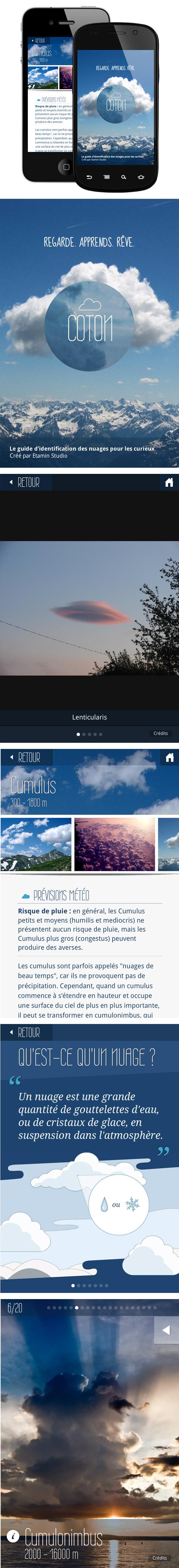 nuage2 Coton, une application mobile pour découvrir les nuages :)