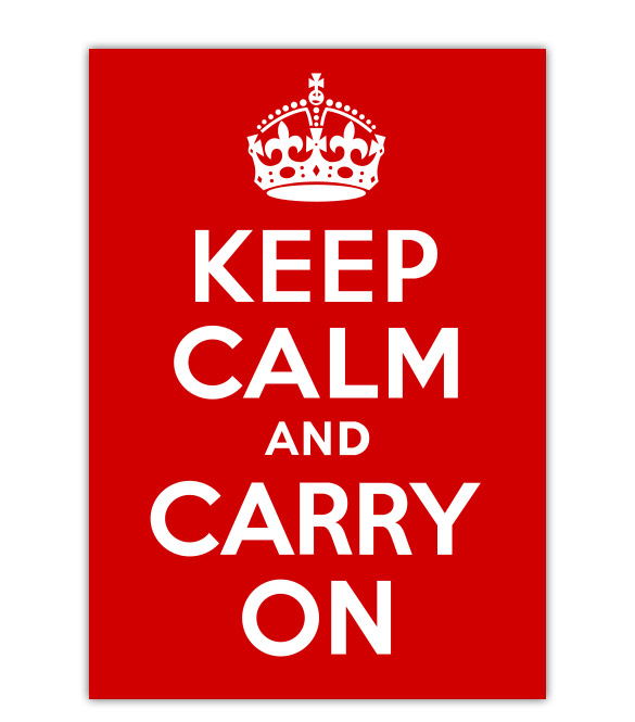 keep1 Découvrez lhistoire de laffiche Keep Calm and Carry On :)