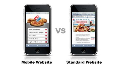 Mobile Website vs Standard Website