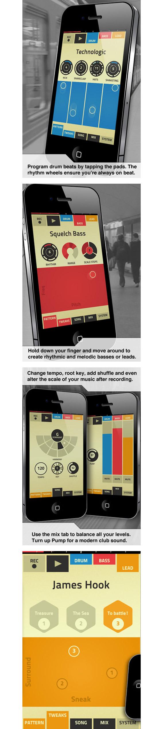 app Figure, une application pour créer de la musique en quelques minutes.