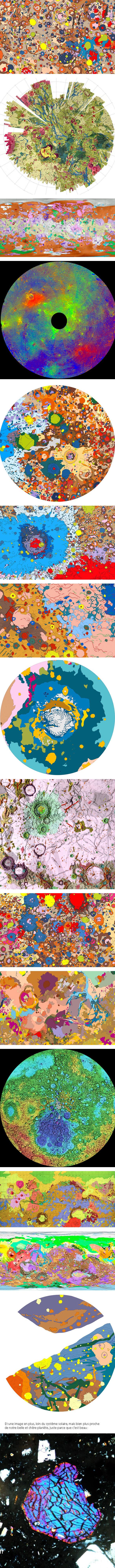 gaya Des cartes artistiques de notre beau système solaire!