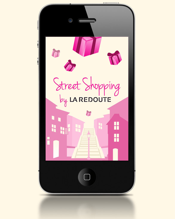 street2 Street Shopping, iPhone & Android aux couleurs de La Redoute.
