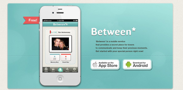 beetween2 Des applications iPhone & Android pour les couples <3