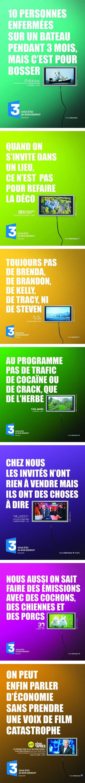 affiche Les affiches de France 3: des cochons, des chiennes et des porcs !