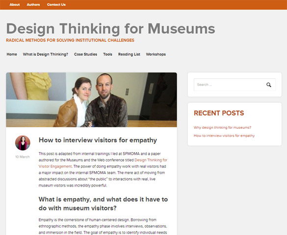 design thx Repenser le design au musée avec Design Thinking for Museums !